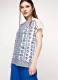 DeFacto Desenli Bluz Beyaz